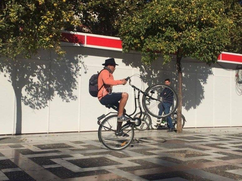 Acrobacias con la bici
