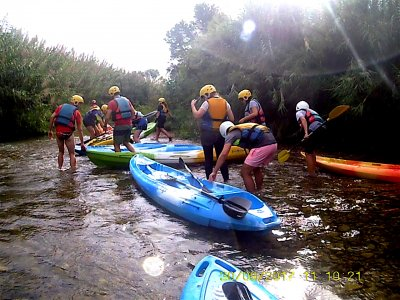 Descenso en kayak en el río Turia tramo 5 km