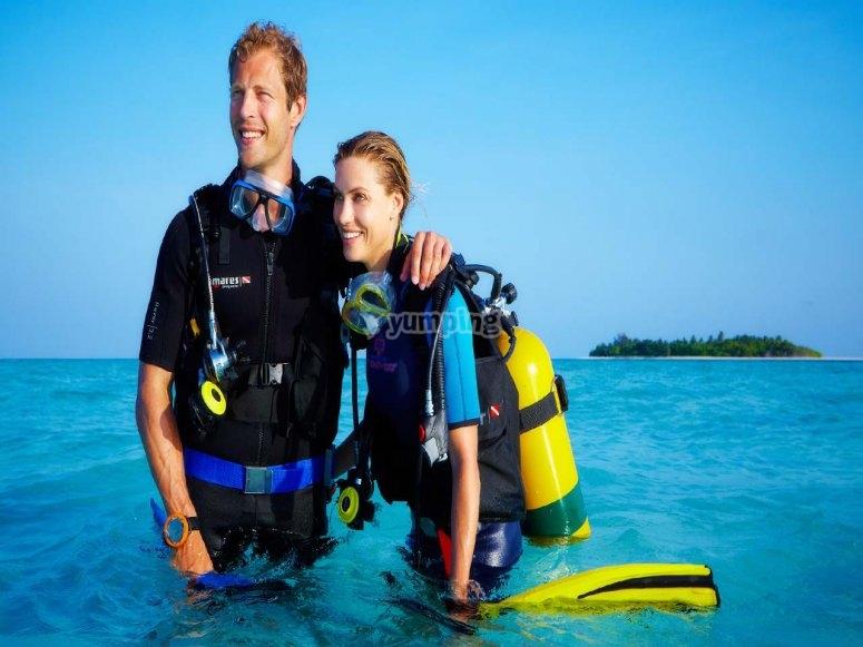 primera inmersion de una pareja
