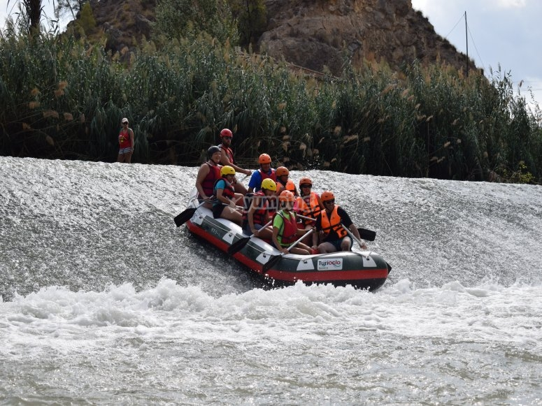descenso de rafting en grupos