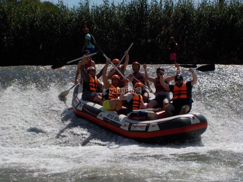 excursion de colegios rafting