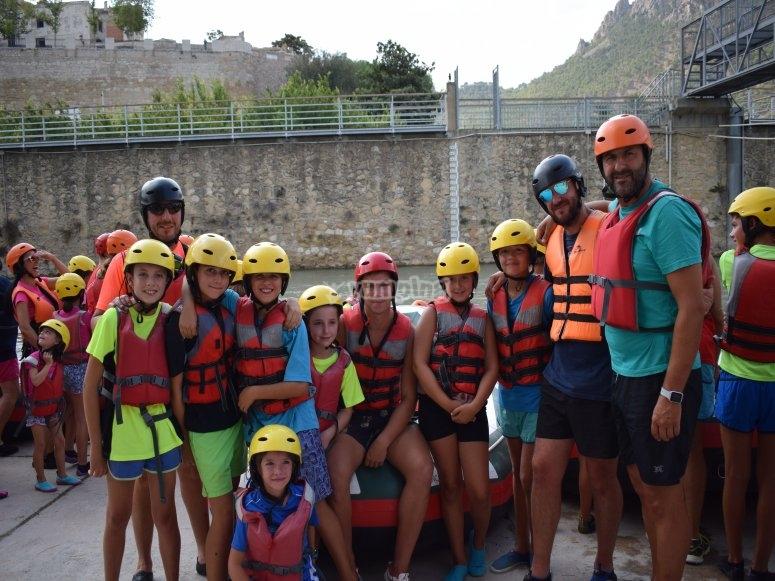 grupo despues de rafting