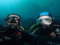 respirando bajo el mar