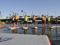 Listos para comenzar nuestra ruta de stand up paddle surf