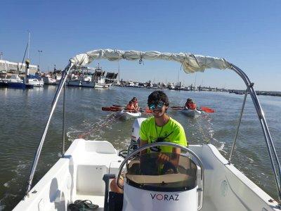 在Piedras河乘船游览Voraz 450 90分钟