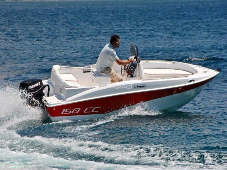 Llevando barco sin titulacion