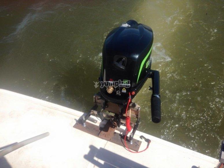 El motor de la embarcacion