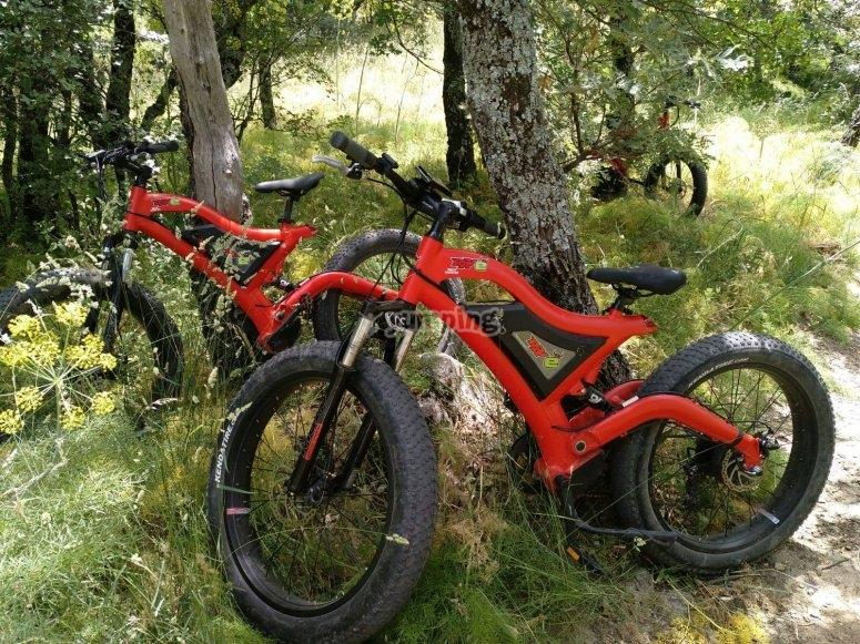 Pedaleo en bici electrica sierra de Madrid