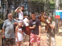 Disfrutando de la compañía del caballo