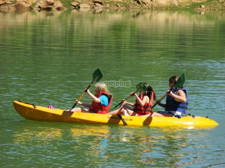 A bordo del kayak