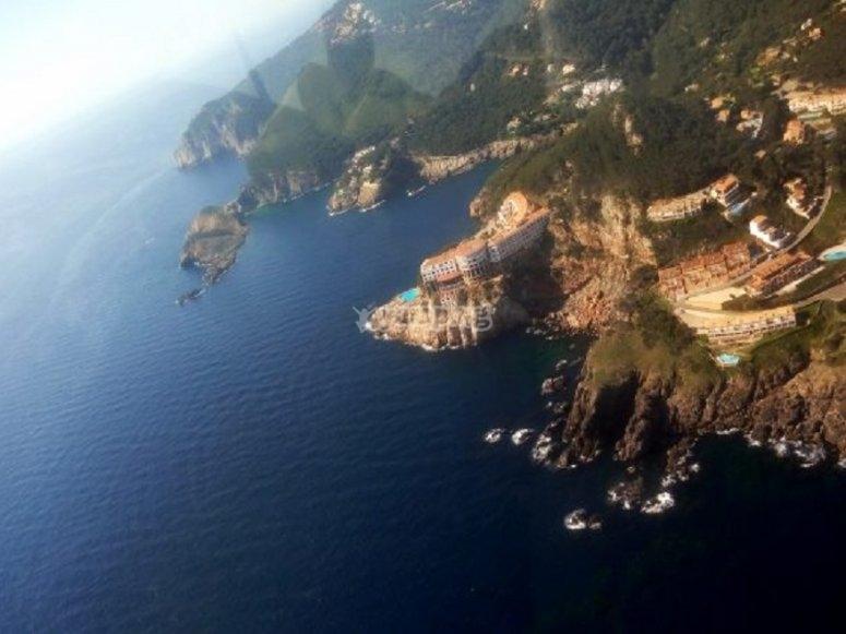 El paisaje de la costa Brava desde el cielo