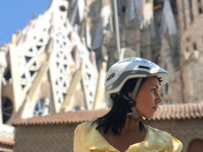 Tour through Sagrada Familia by electric scooter