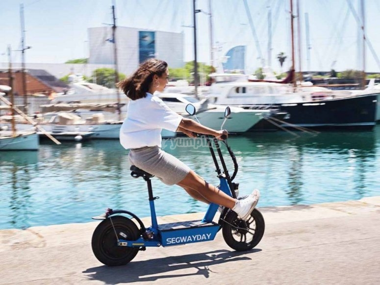Private trips by electric scooters