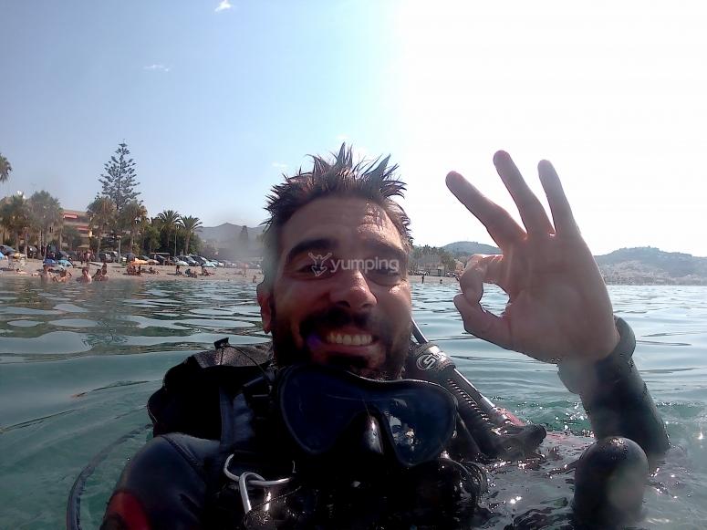 生物多样性拜见malaguena只有一天在潜水初体验