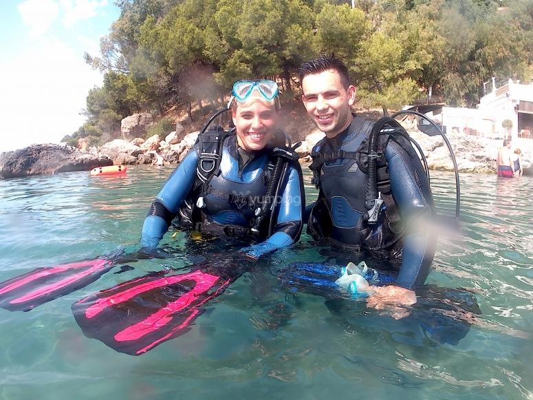 海潜水夫妇
