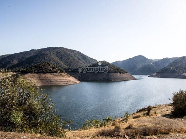 Contemplando las vistas mientras recorremos la Sierra de Andújar