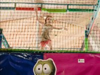 Jumping in safe trampoline