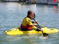 Having fun in our kayaks
