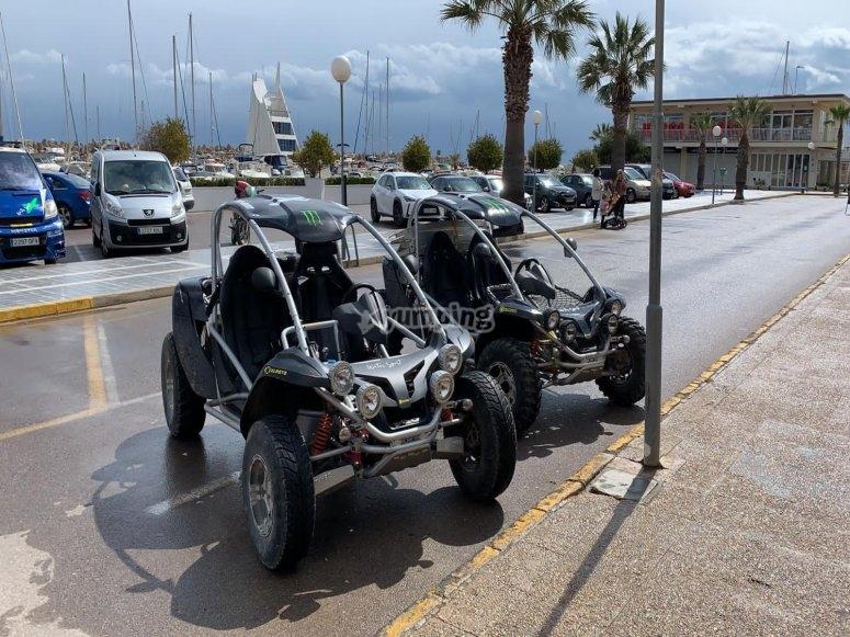 Listos para una ruta en buggy off the road