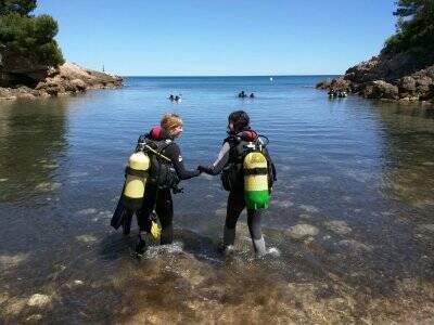 开放水域课程SNSI-NITROX Ametlla de Mar.