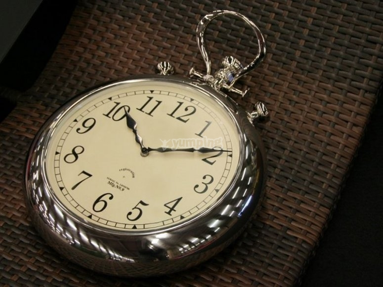 No pierdas de vista el reloj