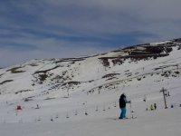 Clase de esquí, con material incluido