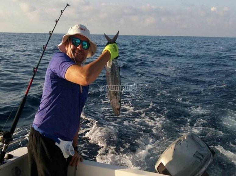 Media jornada de pesca en Alicante