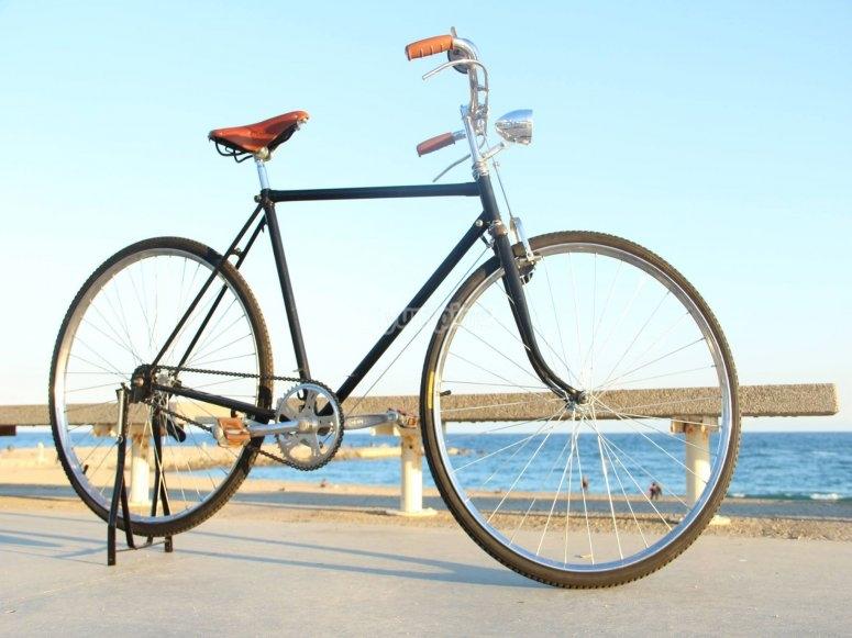 Alquiler de bici retro en Poble Nou