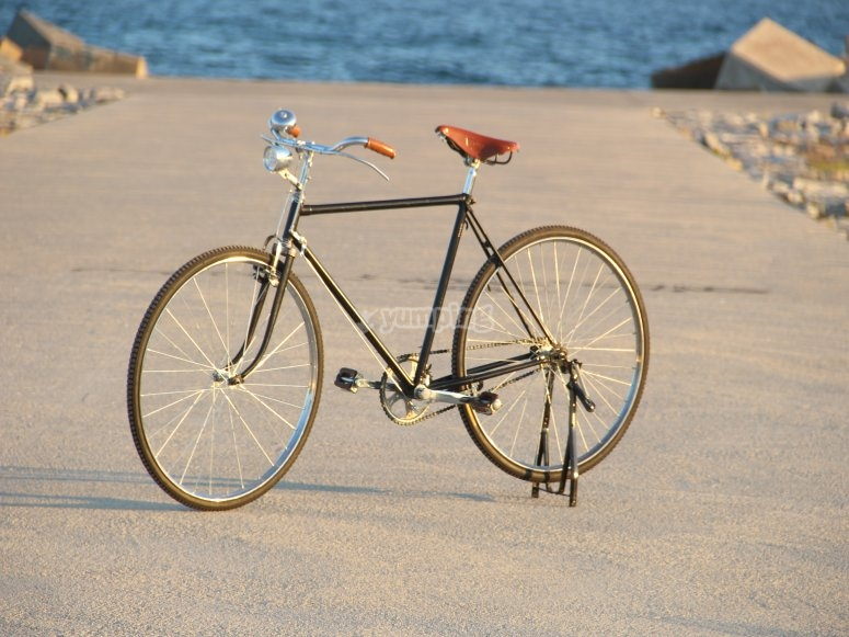 Bicicleta clasica en la playa