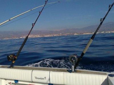 在阿利坎特海岸旋转钓鱼的游览