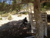 Playing paintball in Guardamar