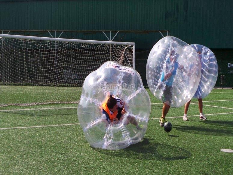 Futbol bubble en San Sebastian