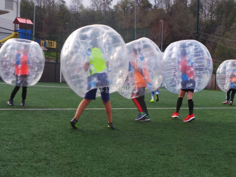 Jugadores de bubble football