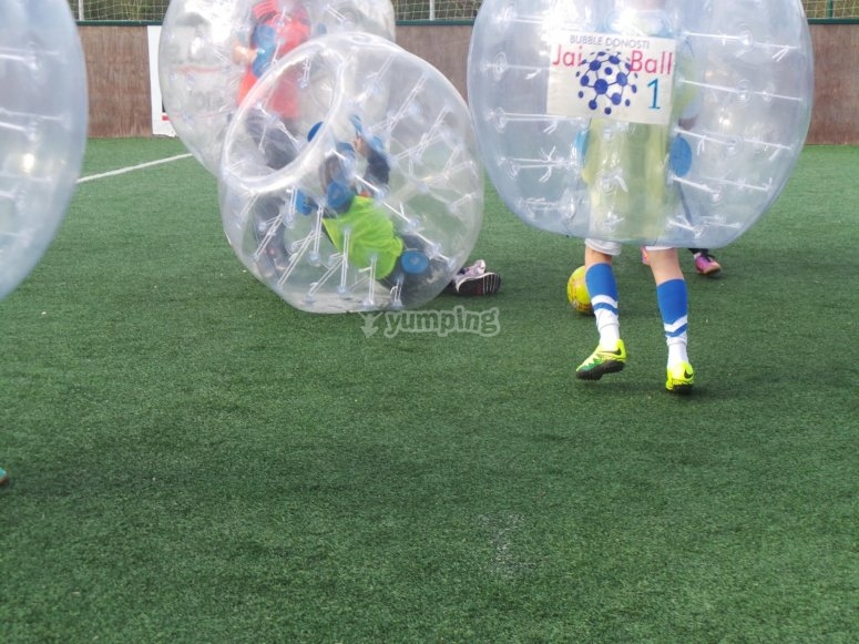Football bubble in San Sebastian