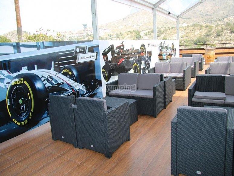 Instalaciones comodas para disfrutar de la carrera