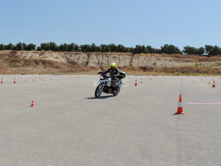 Intermediate level motorcycling