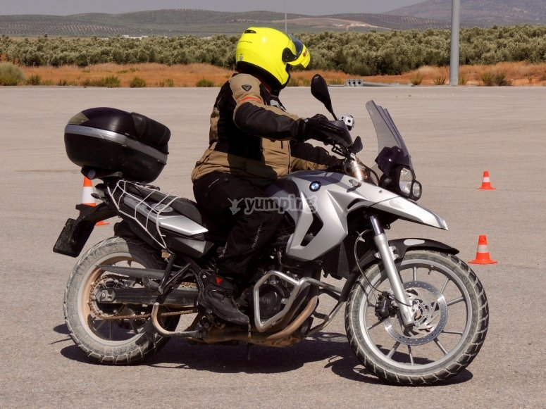 Advanced motorcycling course