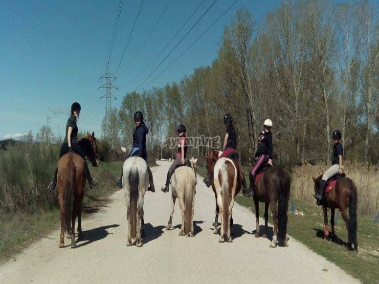 在马背上难忘的一天