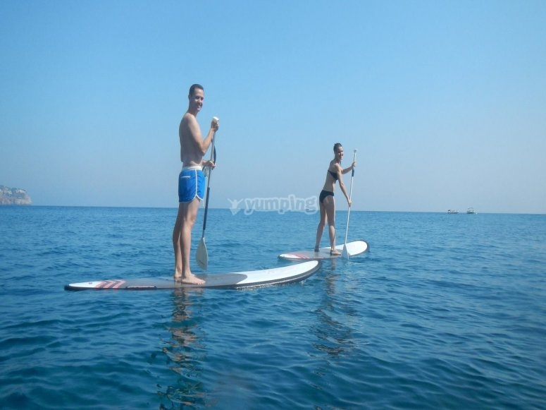 Paddle surfing tour