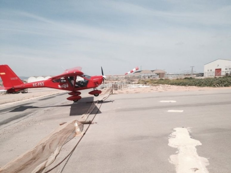 飞往Murcia的小型飞机