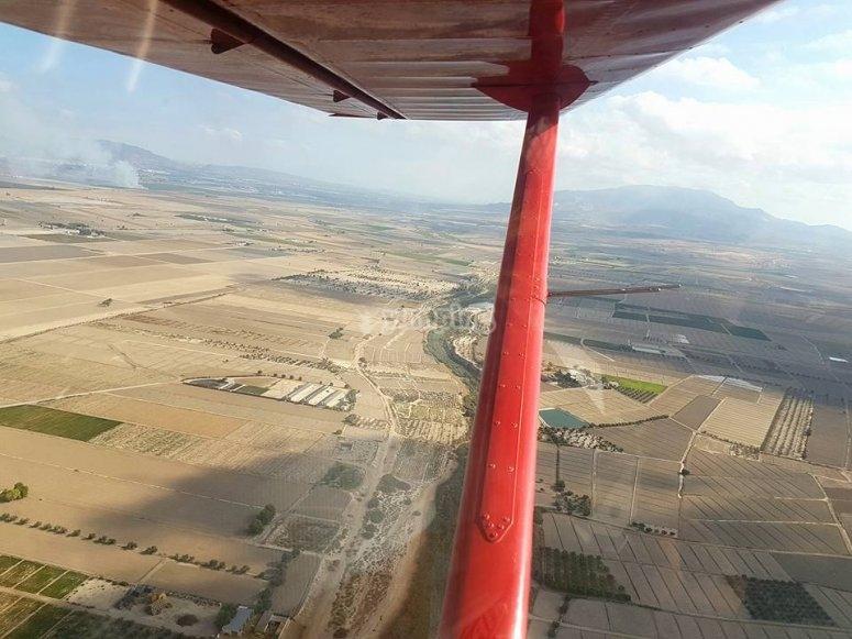 Overflying Totana