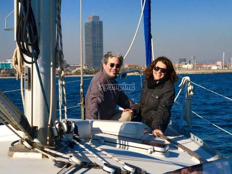 Salida en velero para parejas