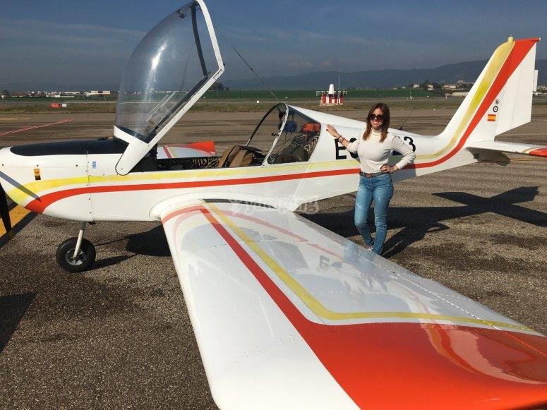 Listo para la aventura aerea