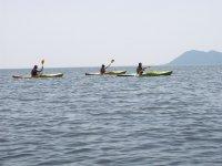 Kayaks en mar abierto