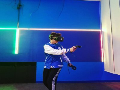 Virtual reality session in Barcelona couples 1h