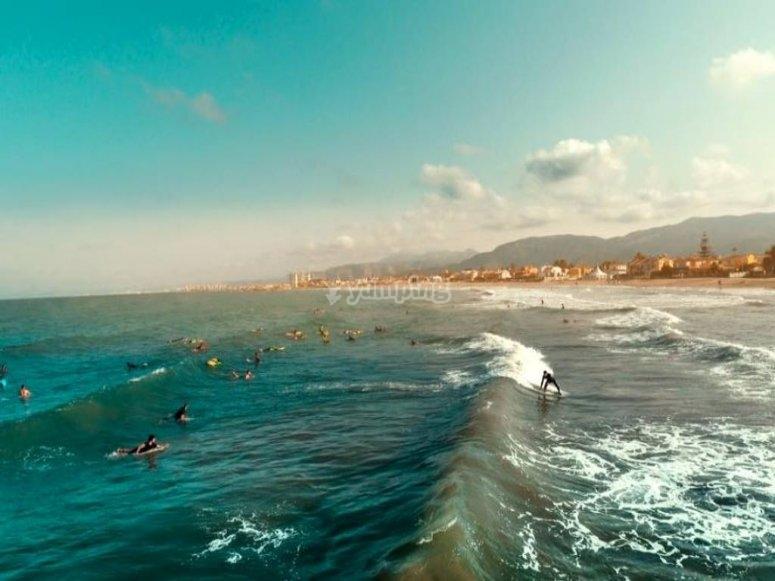 Surfers in Cullera
