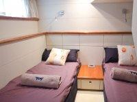 Camarote con camas individuales