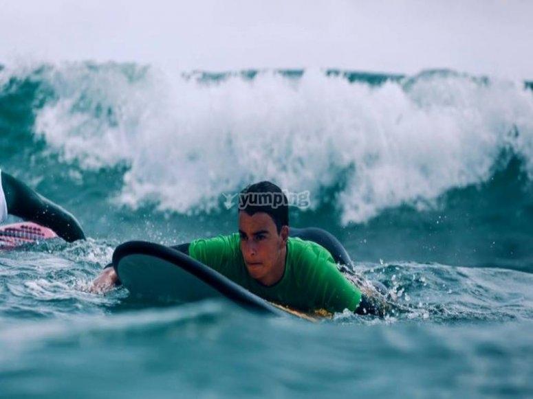 Surfeando en Cullera