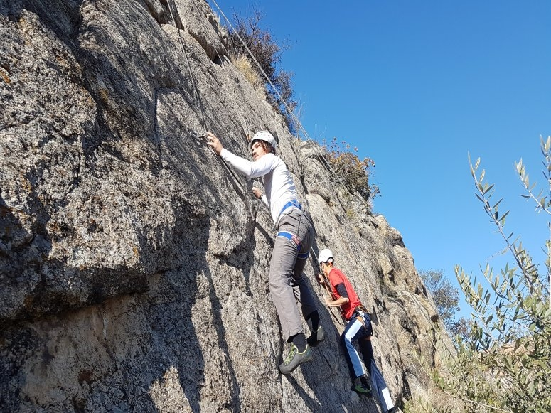 Iniciacion el La Cabrera a la escalada