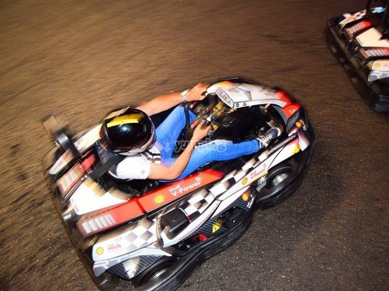 Carrera karting con los compis de trabajo